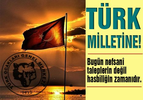 TÜRK MİLLETİNE!