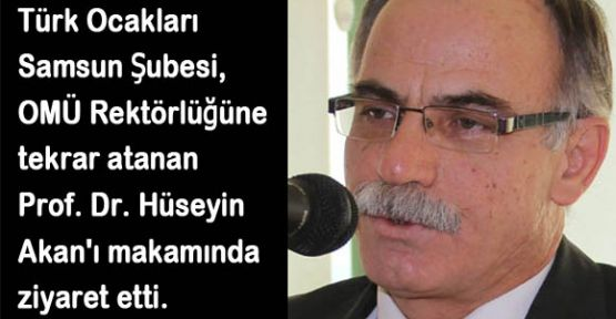 Türk Ocağından Rektöre ziyaret