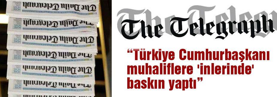 'Türkiye Cumhurbaşkanı muhaliflere 'inlerinde' baskın yaptı'