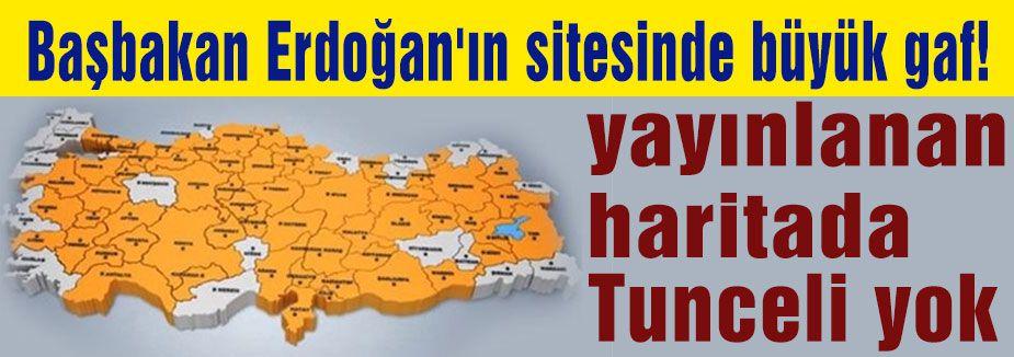 Türkiye haritasında Tunceli'ye yer verilmedi