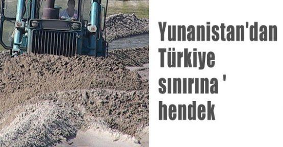 Türkiye Sınırına Hendek