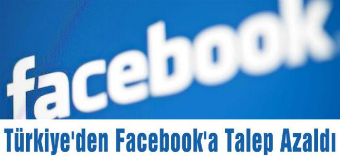 Türkiye'den Facebook'a Talep Azaldı