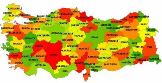 Türkiye'nin Yaşlılık Haritası...