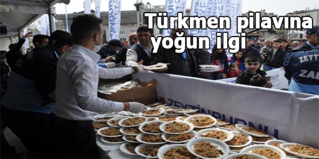 Türkmen pilavına yoğun ilgi