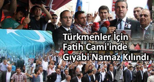Türkmenler İçin Fatih Cami'inde Gıyabi Namaz