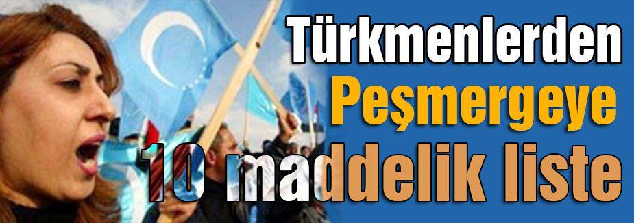Türkmenlerden 10 maddelik liste