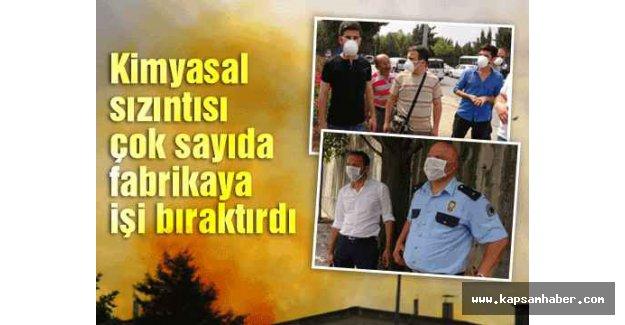 Tuzla'da, kimyasal sızıntı