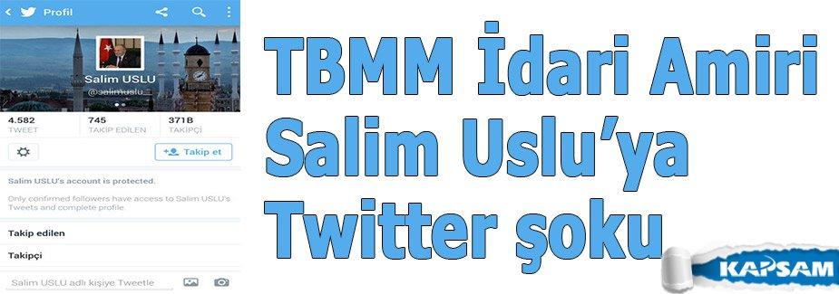 Twitter, TBMM İdari Amiri Salim Uslu'nun hesabını engelledi
