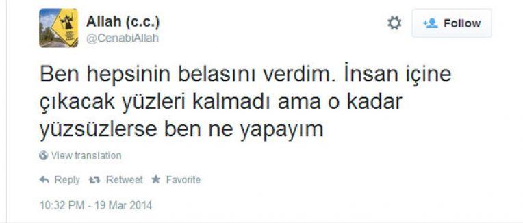"Twitter'da""Allah CC""ye 15 ay hapis"