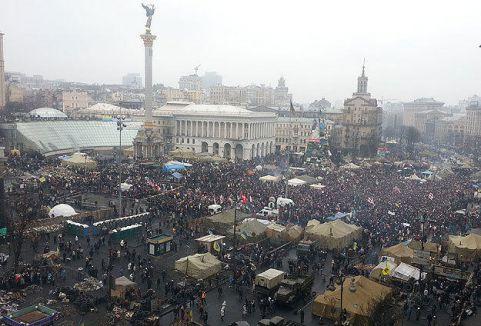 Ukrayna'da halk mitingi...