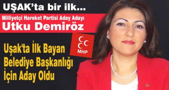 Uşak'ta MHP'den İlk Bayan Aday Adayı