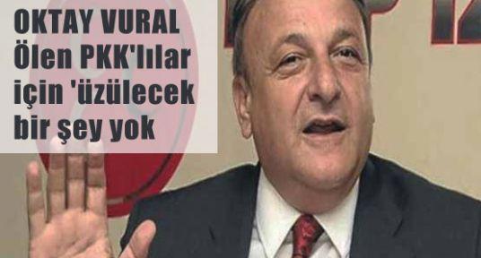 VURAL Ölen PKK'lılar için 'üzülecek bir şey yok