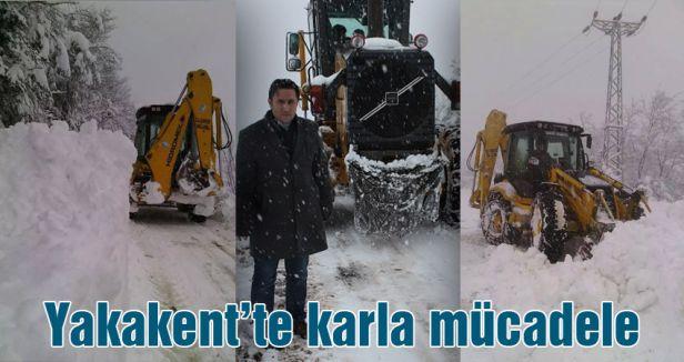 Yakakent'te karla mücadele
