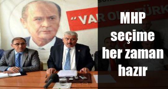 Yalçın: MHP seçime her zaman hazır