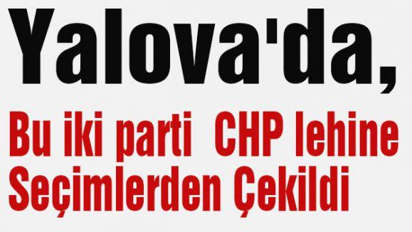 Yalova'da, Bu iki parti  CHP lehine Seçimlerden Çekildi