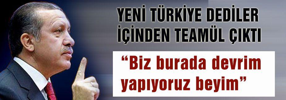'Yeni Türkiye' ve 'teamüller'