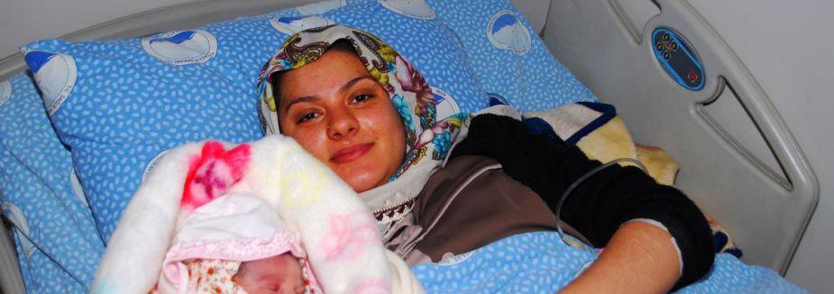 Yeni yılın İlk bebeği 'Elif Zehra'