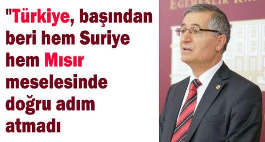 Yeniçeri; Türkiye; Suriye ve Mısır konusunda doğru adım atmadı