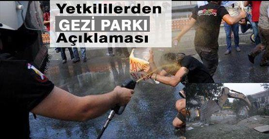 Yetkililerden Gezi Park Açıklaması