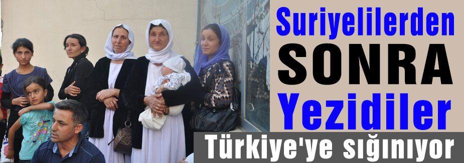 Yezidiler Türkiye'ye sığınıyor