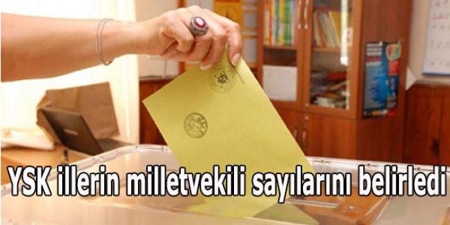 YSK illerin milletvekili sayılarını belirledi