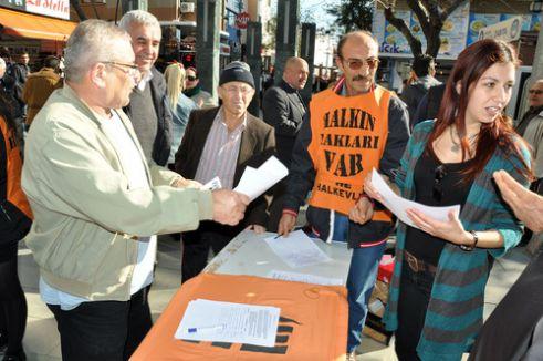 Yüksek elektrik faturaları karşısında imza kampanyası başlattılar
