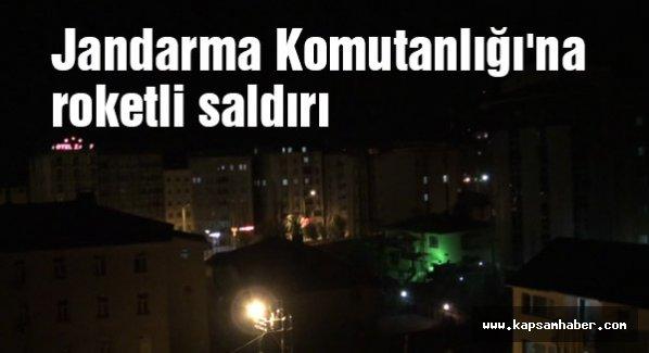 Yüksekova'da jandarma komutanlığına roketli saldırı