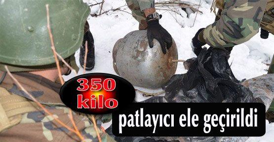 Yüksekova'dapatlamaya hazır bomba ele geçirildi