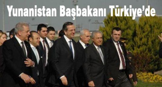Yunanistan Başbakanı Samaras Türkiye'de