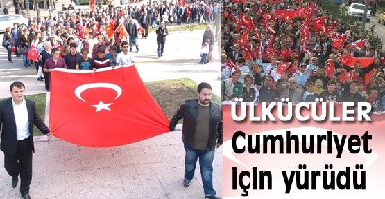 Zonguldak'ta Mhp'liler Cumhuriyet için yürüdü