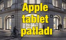 Apple tablet patladı