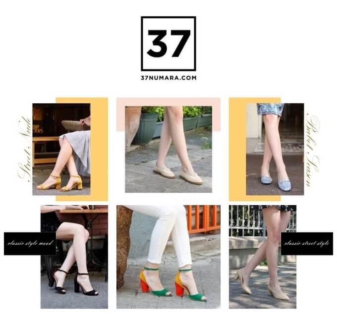 Büyük numara kadın ayakkabı