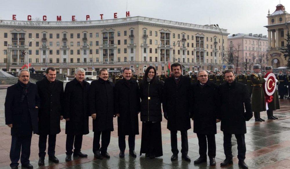 Karaaslan, Başbakan İle Belarus'ta