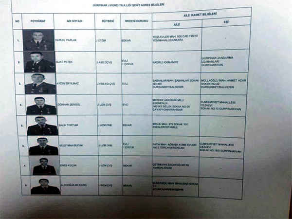 van sehitlerinin isim listesi