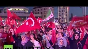Avrupalı Türkler Demokrasi Mitinginde...